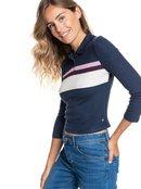 Happy Place - Long Sleeve Polo Shirt for Women  ERJKT03801