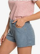 Boy Rules - High Waist Corduroy Shorts for Women  ERJNS03208