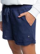 Another Kiss - Linen Shorts for Women  ERJNS03310