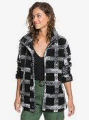 Set Your Sights - Check Sherpa Jacket for Women  ERJPF03056
