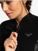 1.5mm Satin - Long Sleeve Front Zip Shorty for Women  ERJW403020