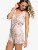 H and K Who Is In - Sateen Playsuit for Women ERJWD03268