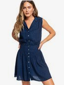 Shiny Night - Sleeveless Button Through Dress for Women  ERJWD03321