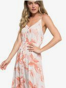 Hot Summer Lands - Button-Through Strappy Maxi Dress for Women  ERJWD03337