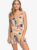 Rainbow Palm - Strappy Playsuit  ERJWD03417