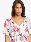 Flamingo Shades - Short Sleeve Midi Dress for Women  ERJWD03428