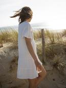 Pale Sun Rose - Short Sleeve Mini Dress for Women  ERJWD03532