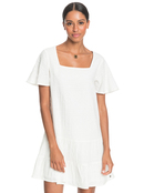 Pale Sun Rose - Short Sleeve Mini Dress for Women  ERJWD03532
