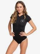 Essentials - Short Sleeve Front Zip One-Piece Swimsuit for Women ERJWR03282