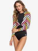 POP Surf - Long Sleeve Back Zip One-Piece Rashguard for Women  ERJWR03318