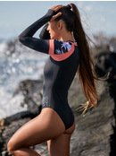 ROXY Fitness - Long Sleeve Back Zip One-Piece Rashguard for Women  ERJWR03321