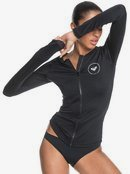 Essentials - Long Sleeve Zip-Up UPF 50 Rash Vest for Women  ERJWR03446