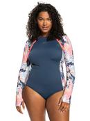 ROXY Fitness - Long Sleeve UPF 50 One-Piece Swimsuit for Women  ERJWR03480