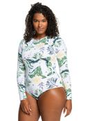 ROXY Bloom - Long Sleeve UPF 50 One-Piece Swimsuit for Women  ERJWR03499