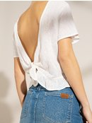 Ghost Away - Open Tie-Back Short Sleeve Top for Women  ERJWT03381