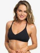 Roxy Womens Beach Classics Fixed Tri T-Back Bikini Top