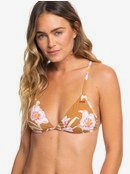 Printed Beach Classics - Fixed Tri Bikini Top for Women  ERJX303966