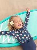 Peachy Vibes - Long Sleeve UPF 50 One-Piece Rashguard for Girls 2-7  ERLWR03153