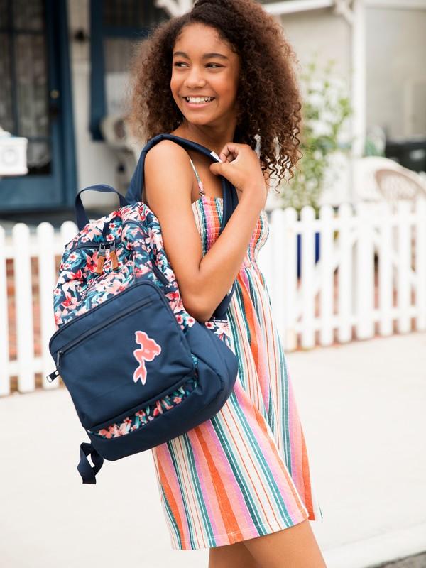 0 Ariel Happy At Home 23L Reversible Medium Backpack Blue ARGBP03002 Roxy
