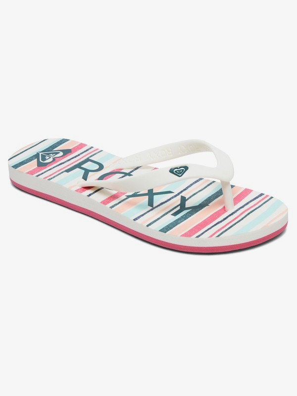 0 Girl's 7-14 Tahiti Flip-Flops Red ARGL100181 Roxy
