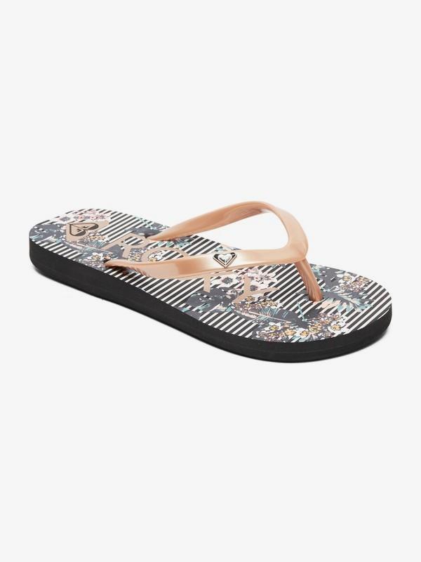 0 Girl's 7-14 Pebbles Flip-Flops Black ARGL100182 Roxy
