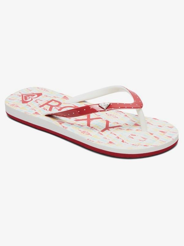 0 Girl's 7-14 Pebbles Flip-Flops Grey ARGL100182 Roxy