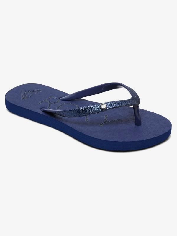 0 Viva Glitter - Tongs pour Fille 8-16 ans Bleu ARGL100186 Roxy
