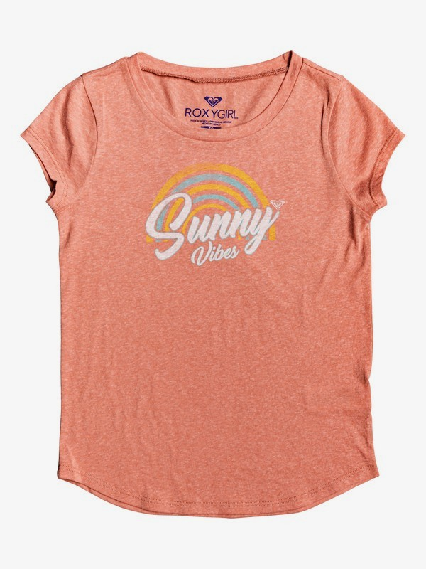0 Girl's 7-14 Sunny Vibes Tee Pink ARGZT03260 Roxy