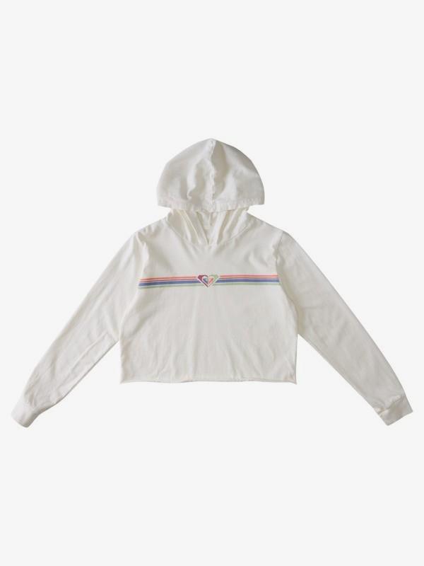 Roxy Stripe - Cropped Hooded T-Shirt for Girls  ARGZT03695