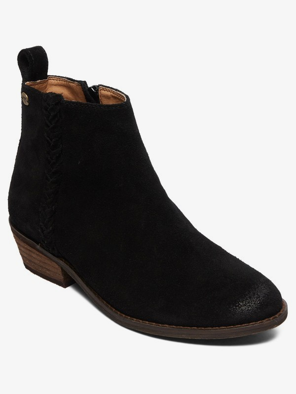 0 Estez - Suede Boots for Women Black ARJB700624 Roxy