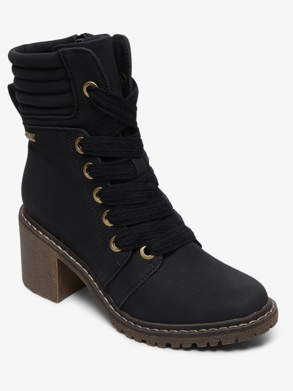 0 Eddy Heeled Lace-Up Boots Black ARJB700631 Roxy