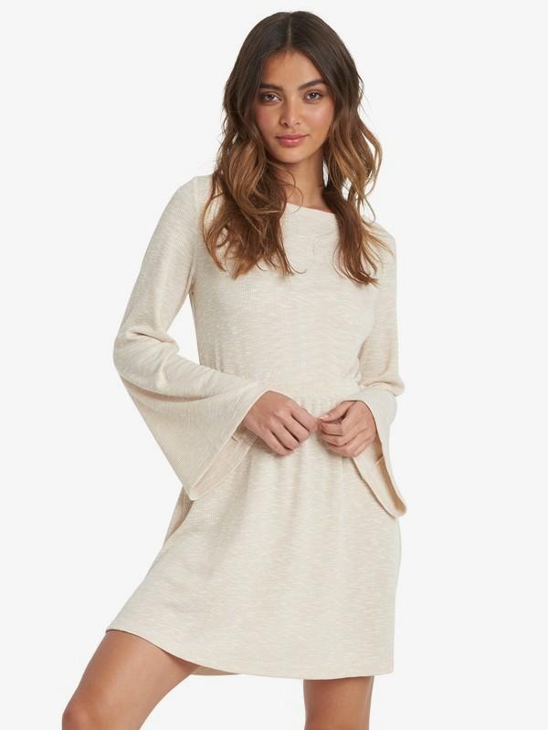 Strolling Through - Long Sleeve Rib Knit Dress for Women  ARJKD03175