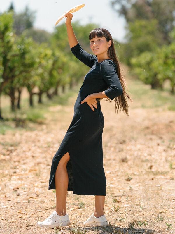 Honey Lips - Ribbed Dress for Women  ARJKD03241