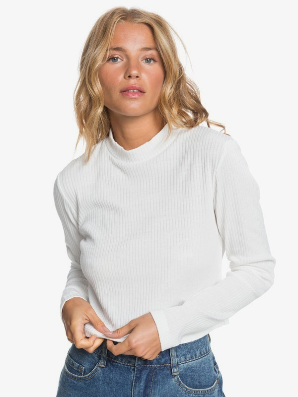 Smooth Move - Long Sleeve Rib Knit Top for Women  ARJKT03275