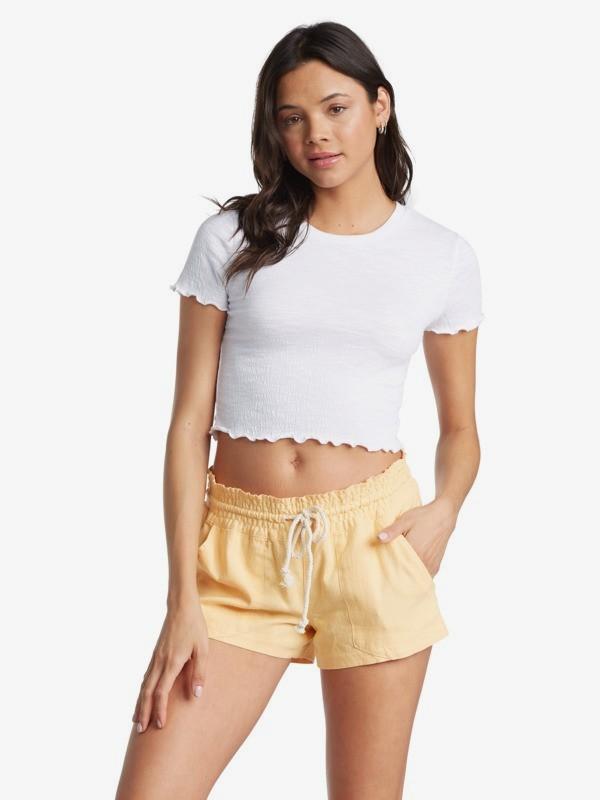 Oceanside - Linen Shorts for Women  ARJNS03007