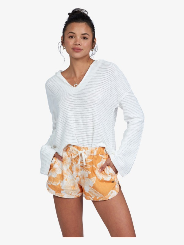 There You Are Printed - Mid Rise Shorts for Women  ARJNS03158