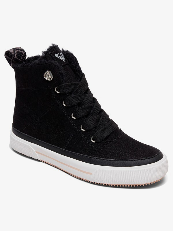 0 Ivan Fur High-Top Shoes Black ARJS300331 Roxy