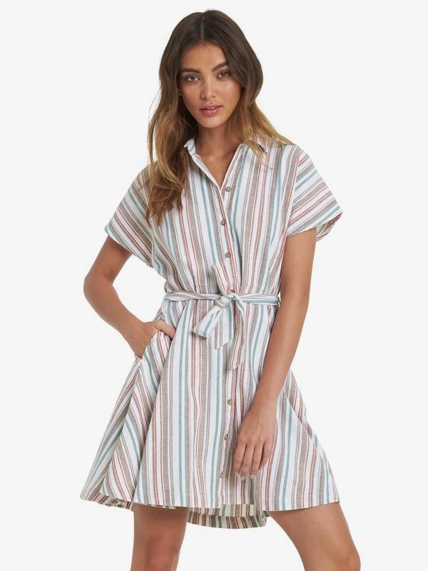 Beachward - Short Sleeve Shirt Dress for Women  ARJWD03282