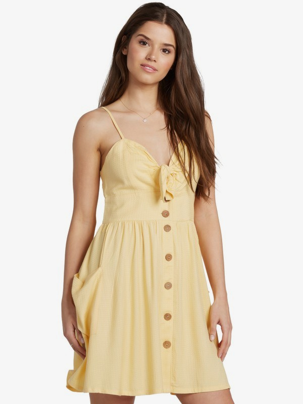 Under The Cali Sun - Strappy Buttoned Dress for Women  ARJWD03289