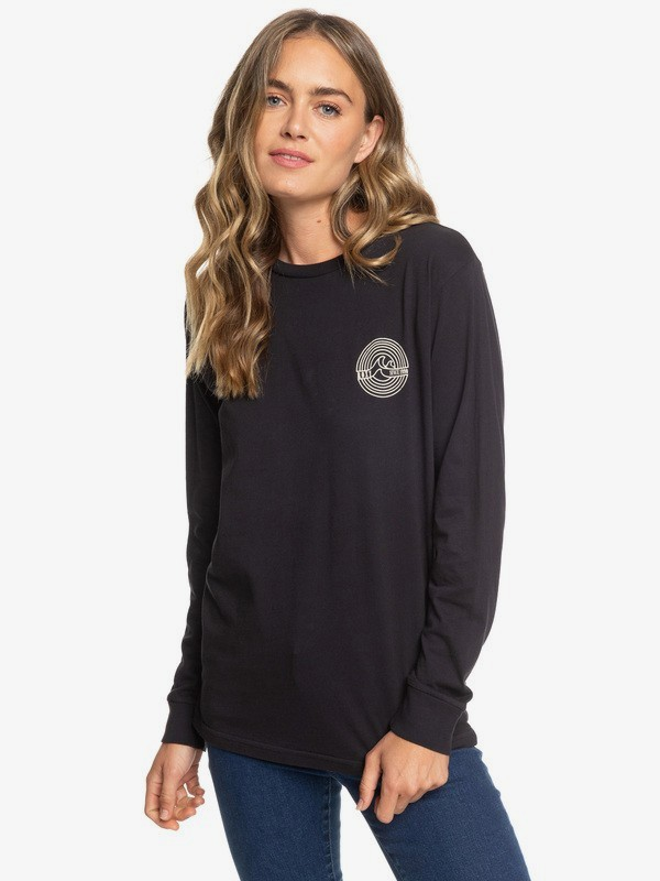 0 Wave Eye Long Sleeve Tee Black ARJZT05153 Roxy