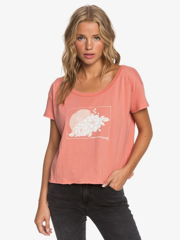 0 Smell The Roses Tee Pink ARJZT05671 Roxy
