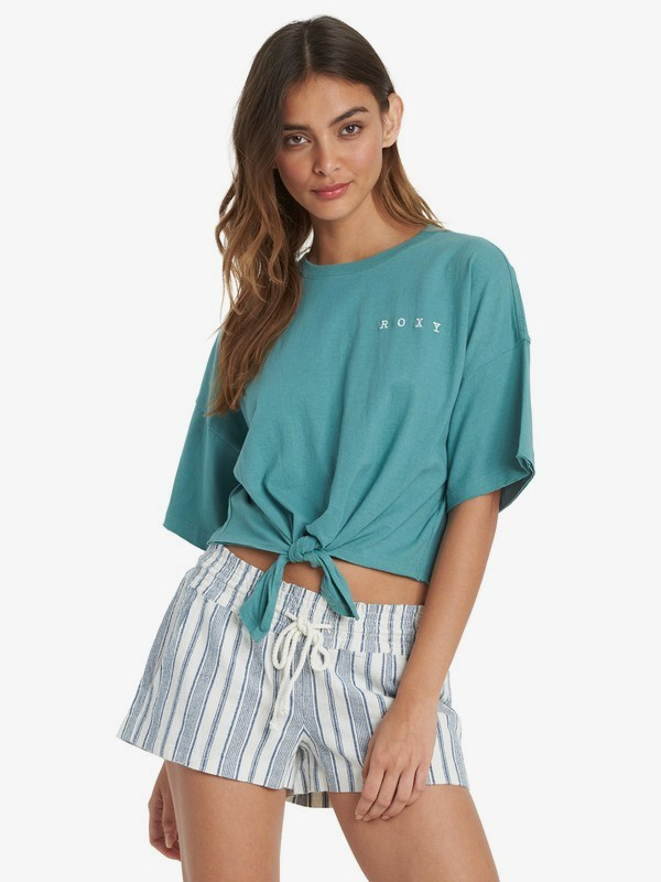 Manuscrit - Tie-Front T-Shirt for Women  ARJZT06079