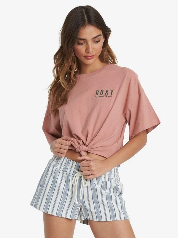 Some Fun Beach - Tie-Front T-Shirt for Women  ARJZT06080