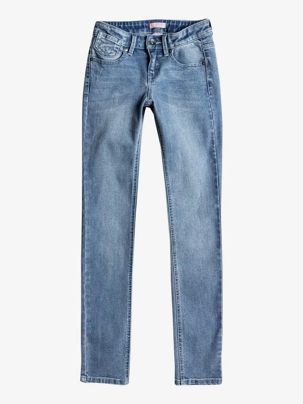 0 Узкие джинсы Follow Rivers Синий ERGDP03031 Roxy