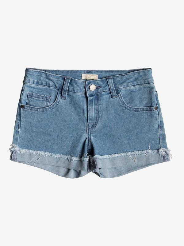 0 Niñas 7-14 Shorts de Mezclilla Bonita Linda Azul ERGDS03044 Roxy