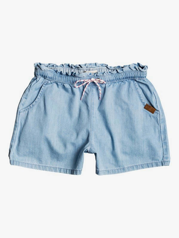 Right Here - Elasticated Denim Shorts  ERGDS03052