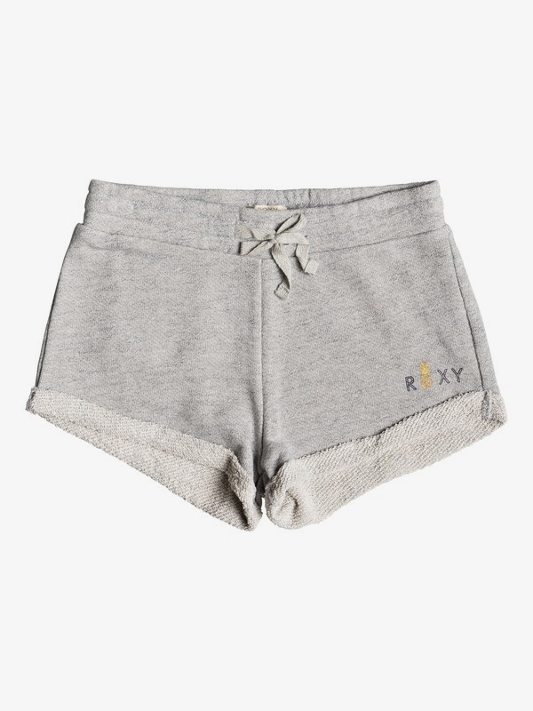 0 Girl's 7-14 Travel Often Heather A Sweat Shorts Grey ERGFB03101 Roxy