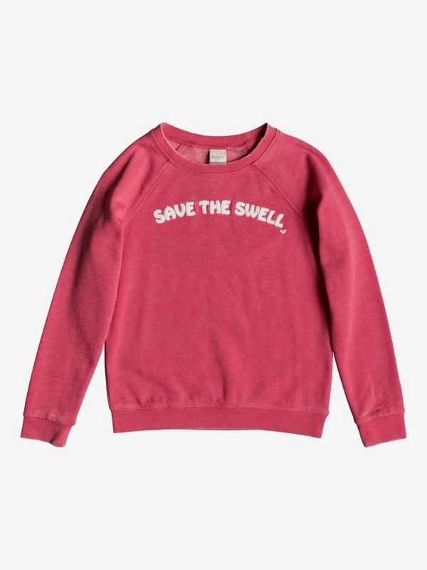0 Pompom Fleuri A - Sweatshirt für Mädchen 8-16 Rosa ERGFT03365 Roxy