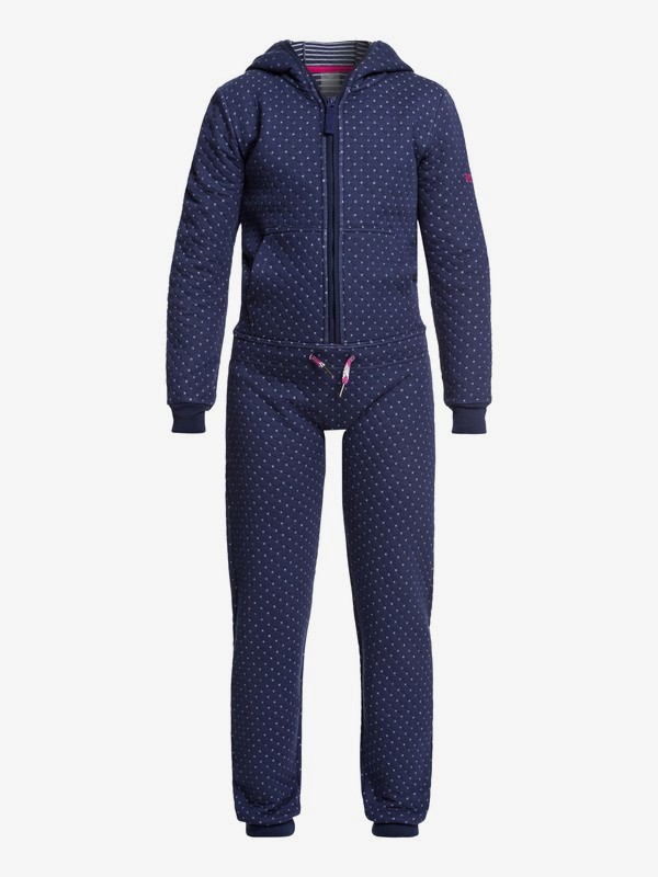0 Cozy Up Technical Hooded Quilted Jumpsuit Blue ERGFT03374 Roxy
