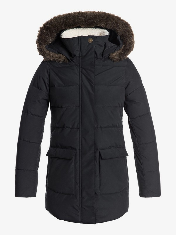 Elsie - Waterproof Hooded Longline Puffer Jacket for Girls 8-16  ERGJK03054